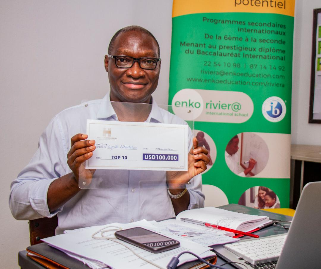 Cyrille Nkontchou, Founder and President of Enko Education won the sum of USD 100,000.